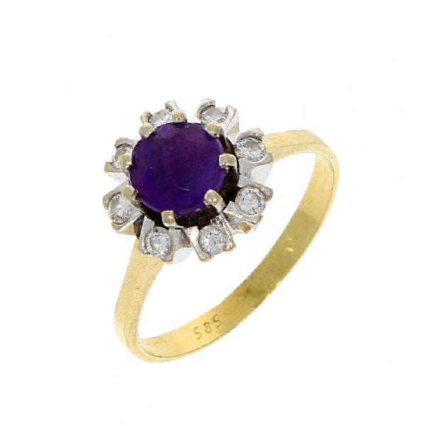 Ring 585/- Gelbgold mit Amethyst