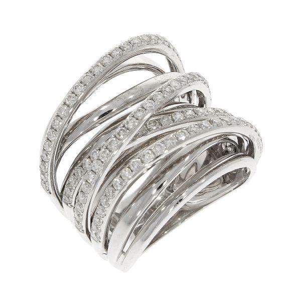 Ring 750/- Weißgold mit Brillanten