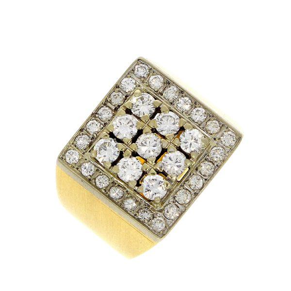 Ring 750/- Gelbgold mit Brillanten