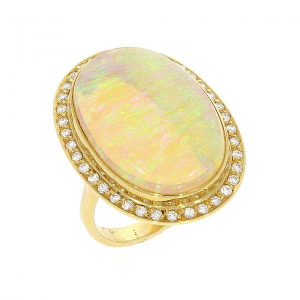 Ring 750/- Gelbgold mit Opal