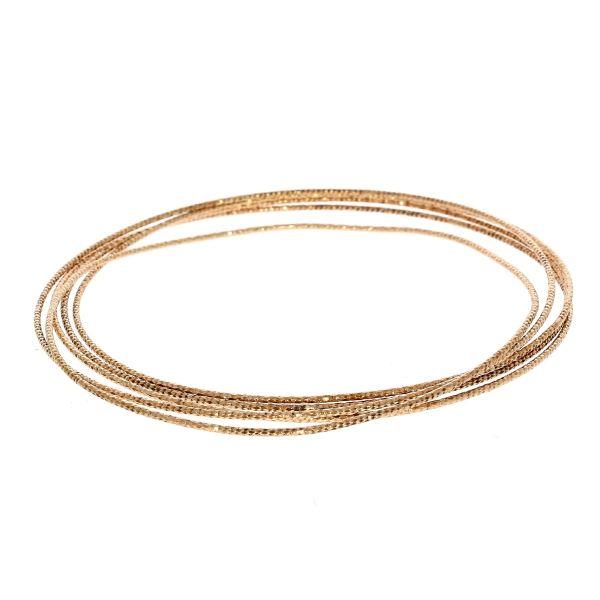 Armreifen 925/- Silber rosévergoldet