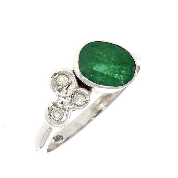 Ring 585/- Gelbgold mit Smaragd