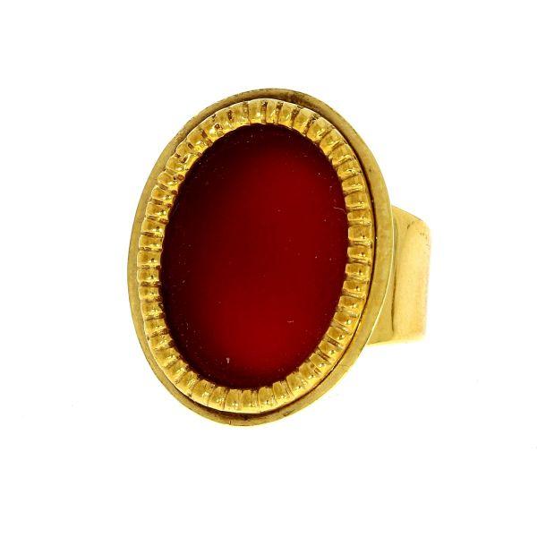 Ring 585/- Gelbgold mit Carneol