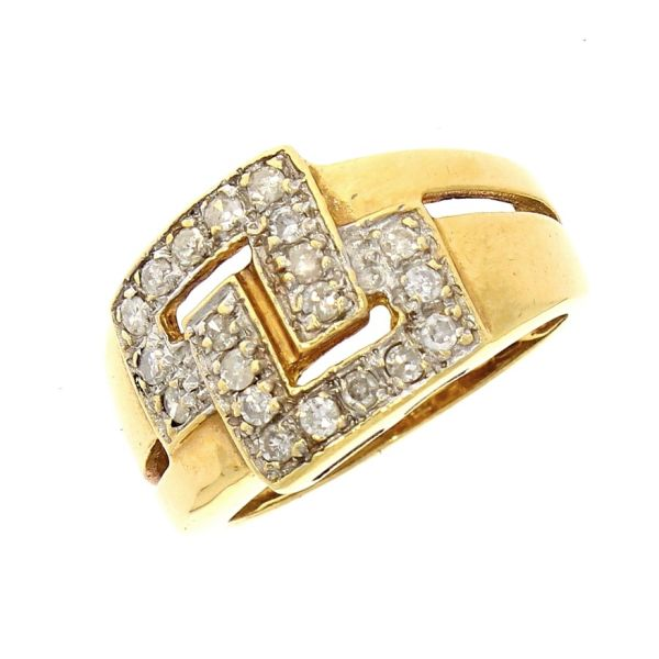 Ring 585/- Gelbgold mit Brillanten