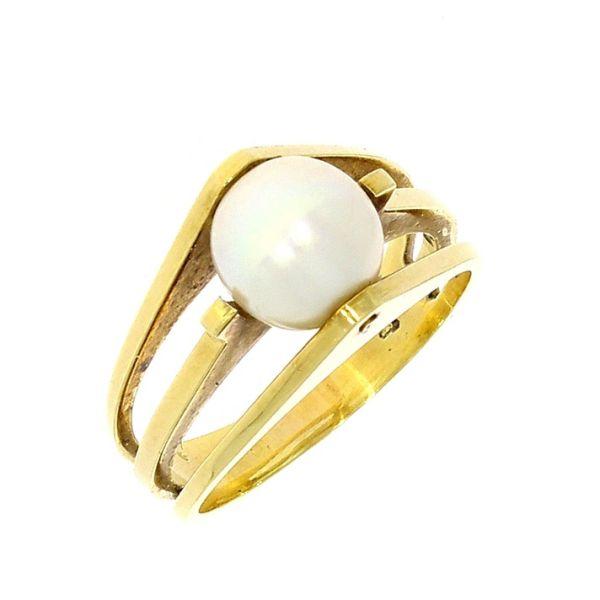 Ring 585/- Gelbgold mit Akoya-Perle