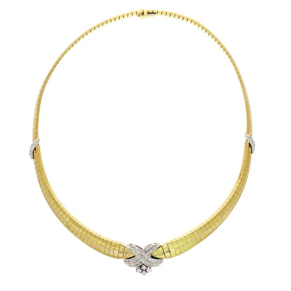 Collier 750/- Gold mit Brillanten