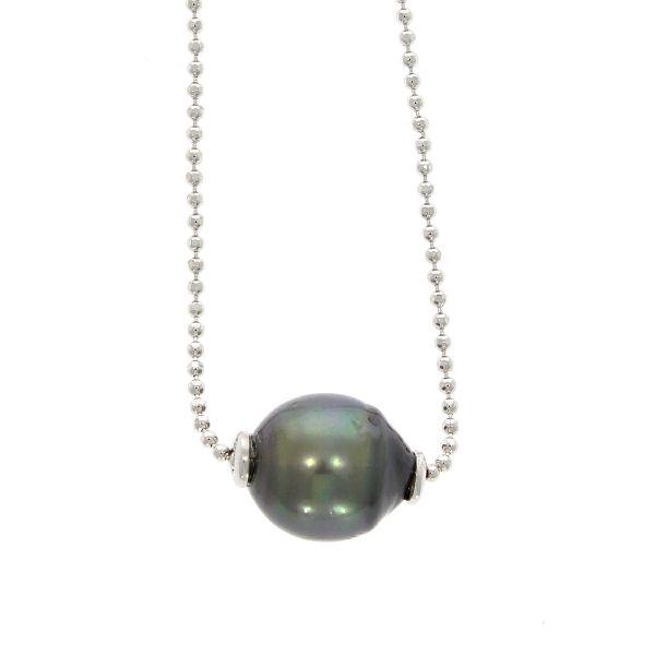 Halskette 925/- Silber mit Tahiti-Perle
