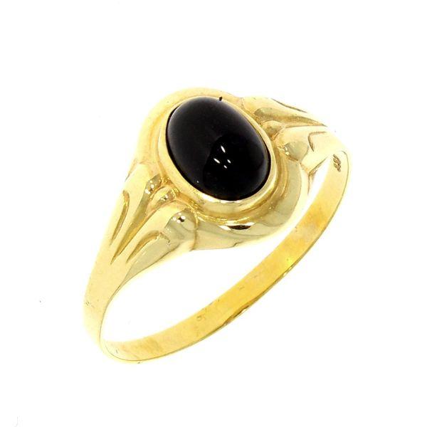 Ring 333/- Gelbgold mit Farbstein