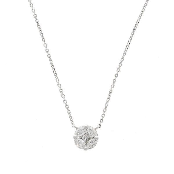 Collier 750/- Weißgold mit Diamanten 0,24ct