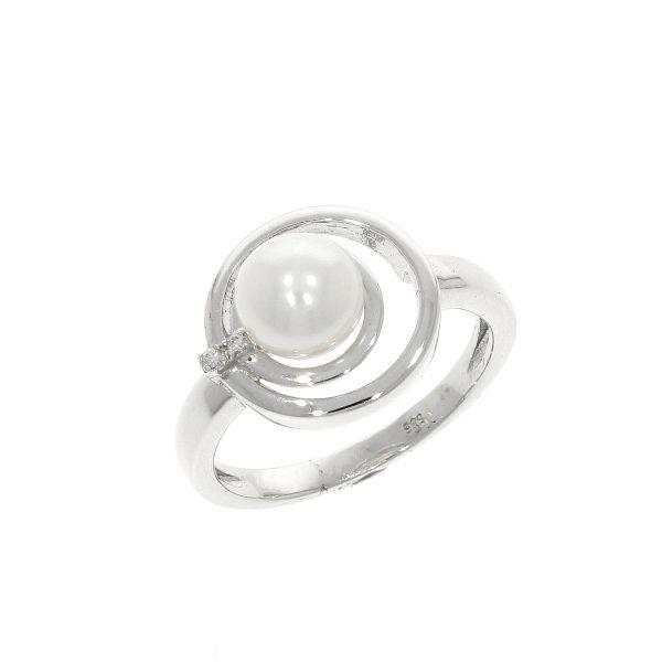 Ring 585/- Weißgold mit Brillanten