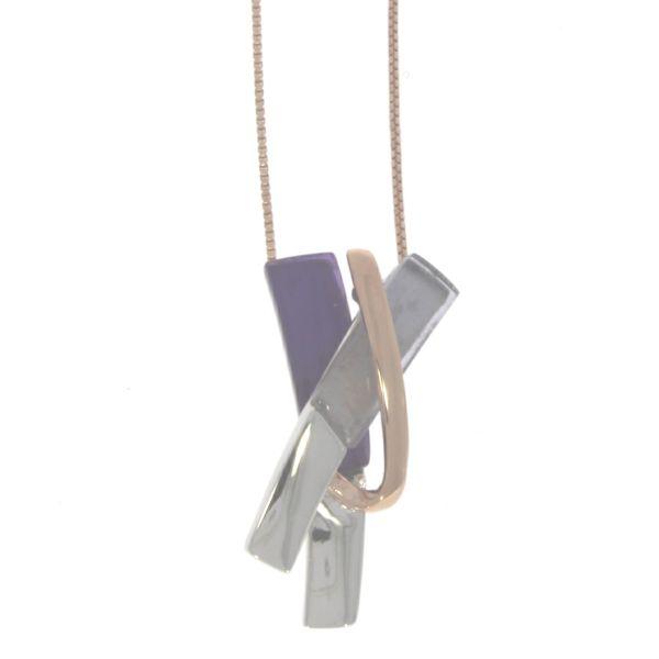 As del Plata Collier 925 Silber mit Quarz 45cm