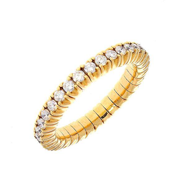 Ring 750/- Rotgoldgold mit Brillanten Flexibel