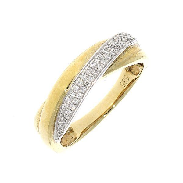 Ring 585/- bicolor mit Brillanten