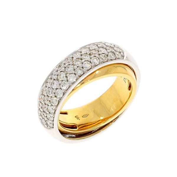 Ring 750/- Weißgold/Rotgold mit Brillanten