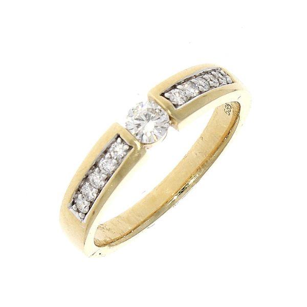 Ring 585/- Gelbgold mit Brillanten 0,32ct