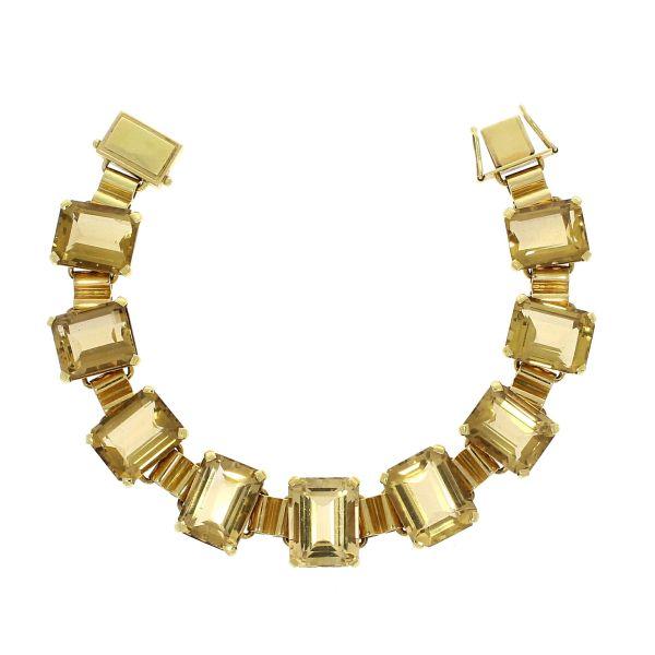 Armband 585/- Gelbgold mit Citrin